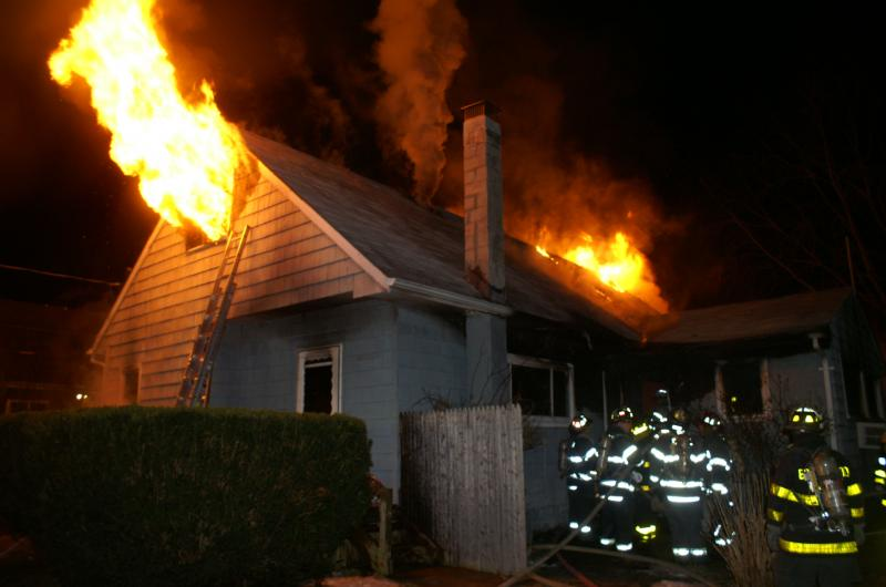 Early Morning Fire In Brentwood