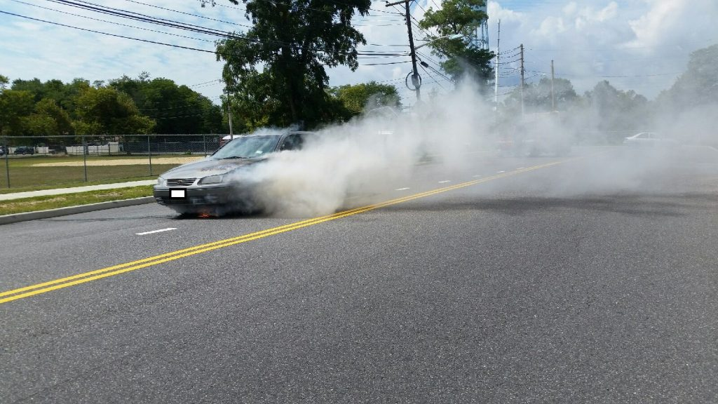 Brentwood Fire Departments Responds to Vehicle Fire