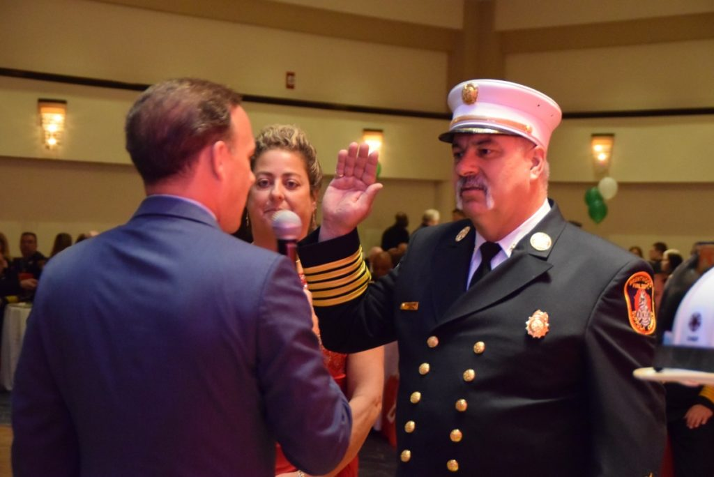 Michael Derbyshire sworn in as the 44th Chief of the Brentwood Fire Department